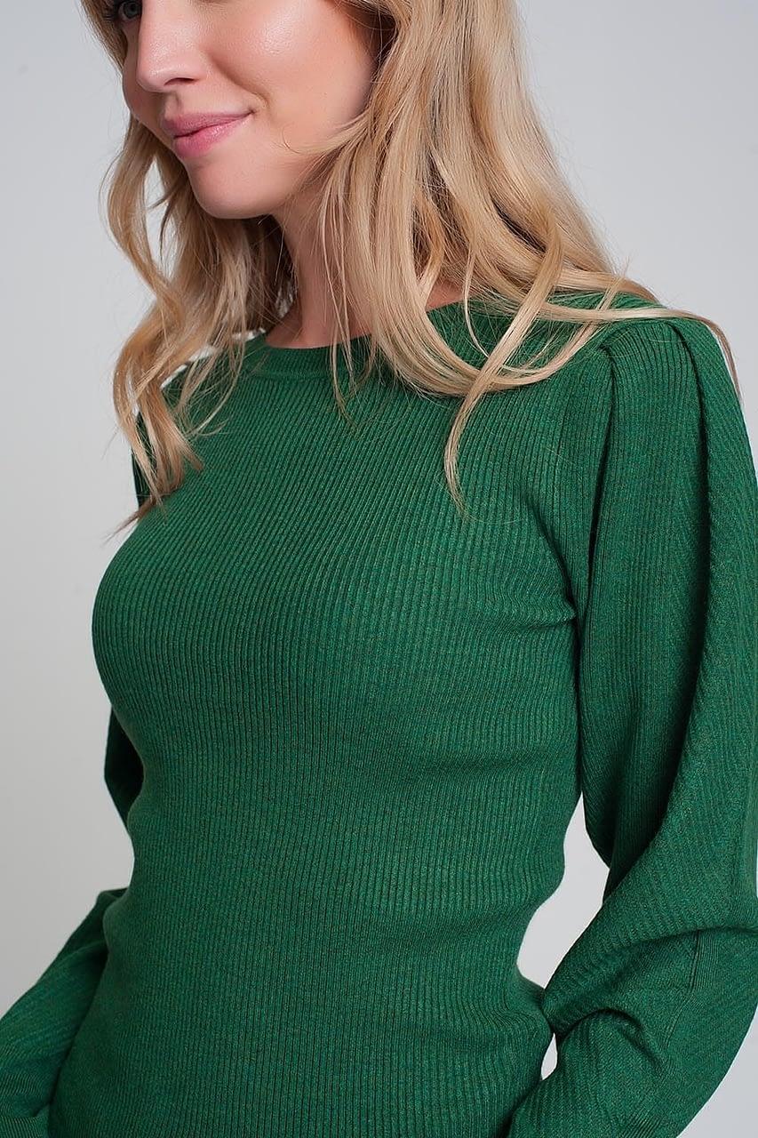 gebreide-trui-met-ronde-hals-lange-mouwen-en-ribbels-in-groen-3