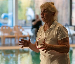 Lenie Pleyte, zwemonderwijzer Bewegingsplein Westduin te Koudekerke - Zeeland