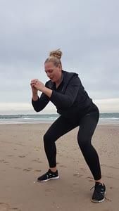 squatten moeder abrt westduin koudekerke sporten strand klein groepsverband onder leiding van personal trainer