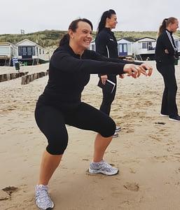 squat-strand-outdoor training- beginners- small group training-westduin