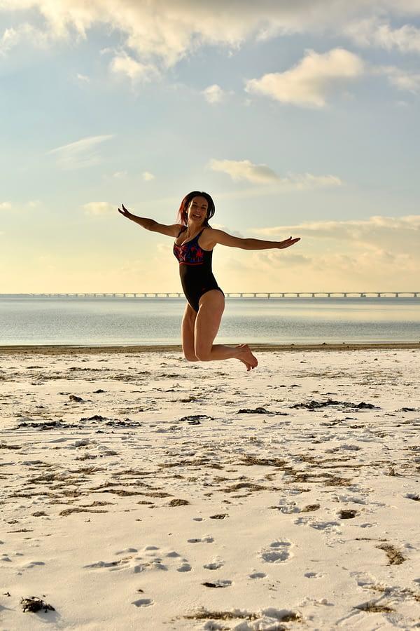 winter zwemmen zee koude training