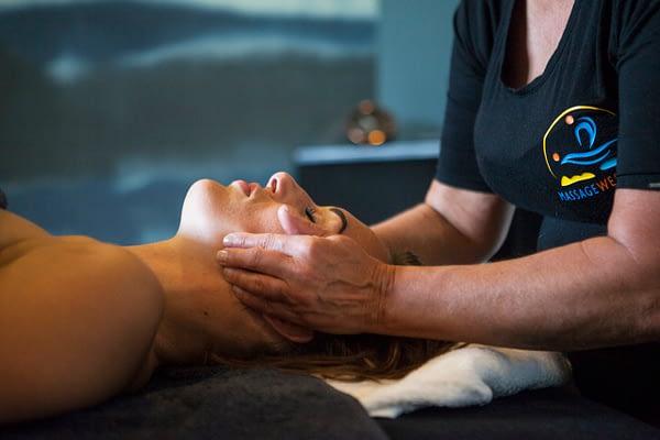 Genieten en ontspannen van een massage