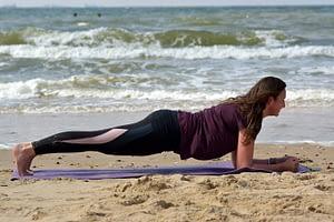 plank pusch up training