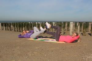 Bootcamp Westduin, buikspieren trainen strand Vlissingen, beginners groep