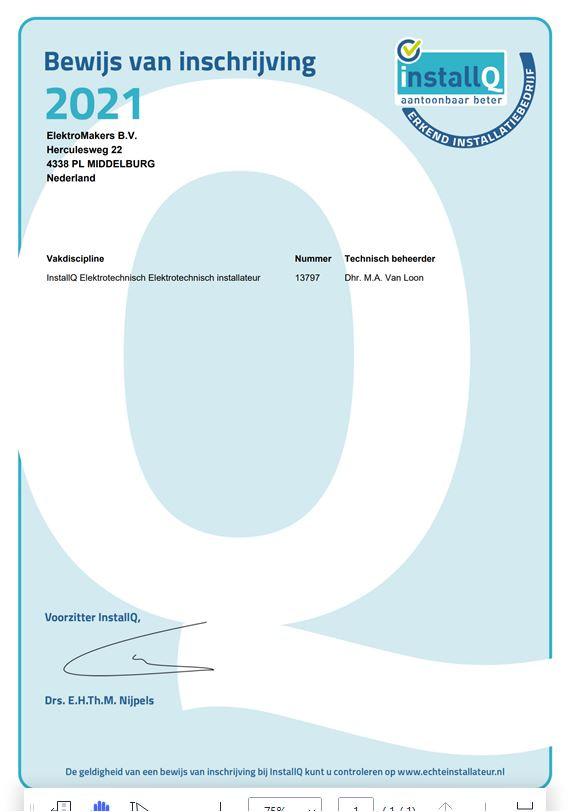 REI erkenning 2021