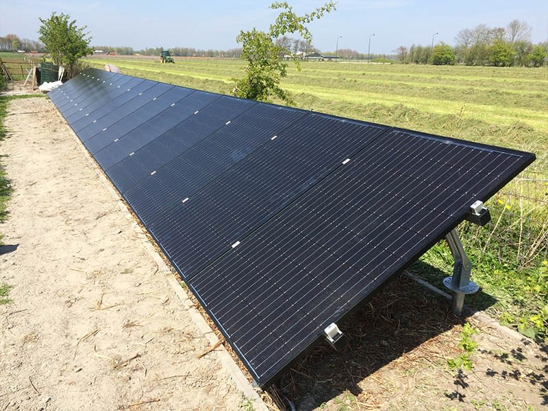 veldopstelling zonnepanelen