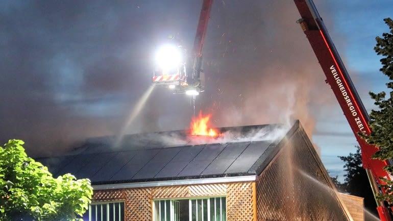 brand bij zonnepanelen