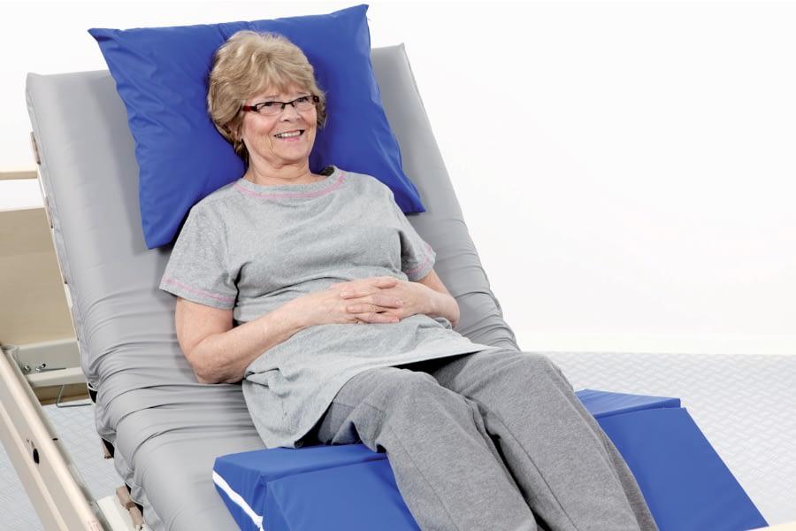 Positionering sacrum,knieën en hielen