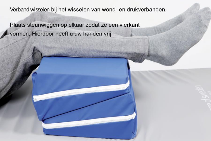 Positionering sacrum,knieën en hielen 2