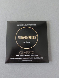 Ruben Classical Strings Light Tension,Silverplated 65/35 Bronze 4