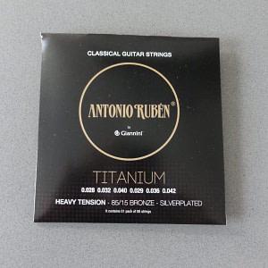 Ruben Titanium Classical Strings HeavyTension,Silverplated 65/35 Bronze 1