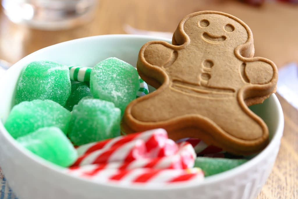 Gingerbread man and Jelly cubes