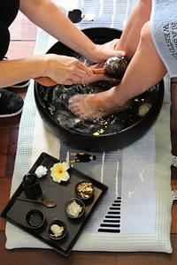 voetenbad voetverzorging reflex massage strand